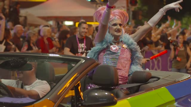 the 2017 sydney gay lesbian mardi gras parade during the 2017 sydney gay lesbian mardi gras parade on march 04 2017 in sydney australia the sydney... - gras stock videos and b-roll footage