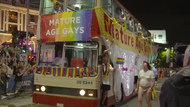 the 2017 sydney gay lesbian mardi gras parade on march 04 2017 in sydney australia the sydney mardi gras parade began in 1978 as a march and... - gras stock videos and b-roll footage