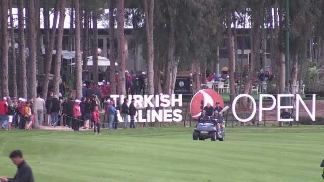 the 2017 turkish airlines open golf tournament held as part of the european tour rolex series ends on november 05 2017 in turkey's mediterranean... - mediterranean turkey stock videos and b-roll footage