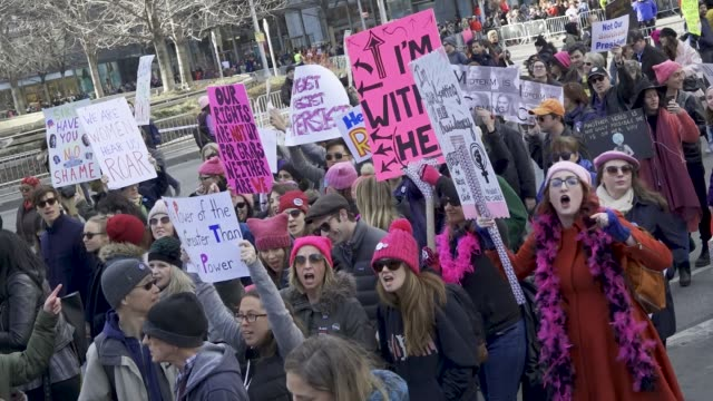 The 2018 New York City Women's march With the upcoming United States midterm elections the Women's march turned into an AntiDonald Trump protest...