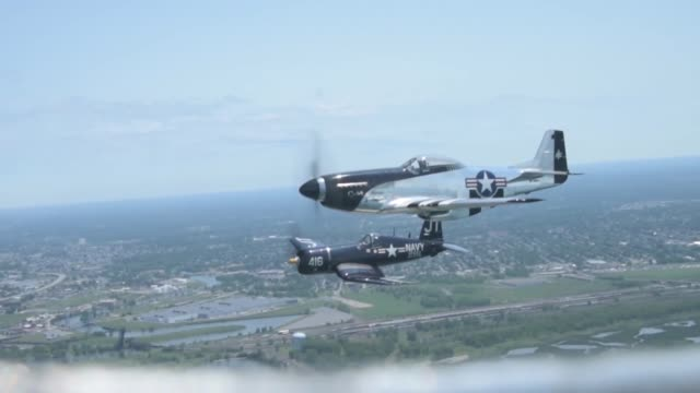 The 2018 Thunder of International Air Show hosts the Wings of Heritage Shaping the Future flight The flight was part of the Air Force Reserve 70th...