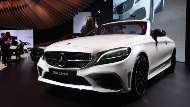 The 2019 MercedesBenz CClass cabriolet is seen during the 2018 New York International Auto Show in New York US on Thursday March 29 2018