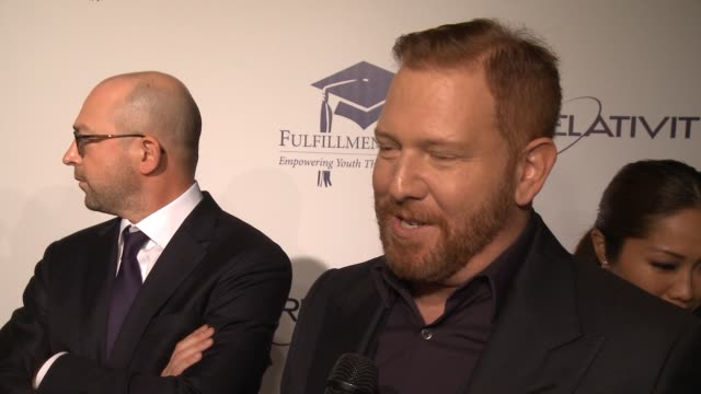 chyron the 20th annual fulfillment fund stars benefit gala red carpet honoring relativity founder and ceo ryan kavanaugh in los angeles ca - direttrice video stock e b–roll
