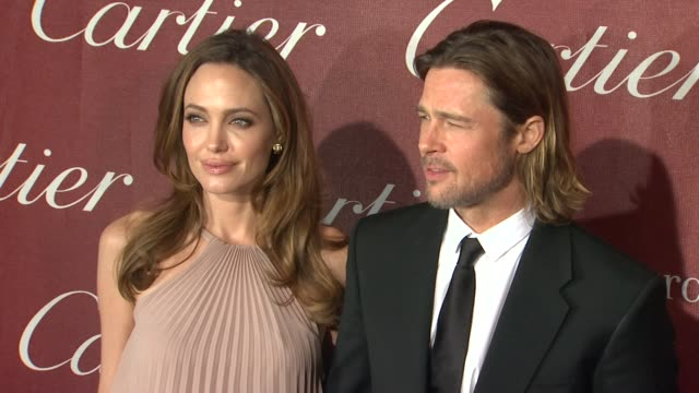 vídeos de stock, filmes e b-roll de the 23rd annual palm springs international film festival awards gala palm springs ca united states - brangelina casal