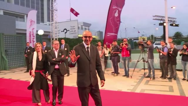 the 27the carthage film festival opens amid high security - carthage tunisia stock videos & royalty-free footage