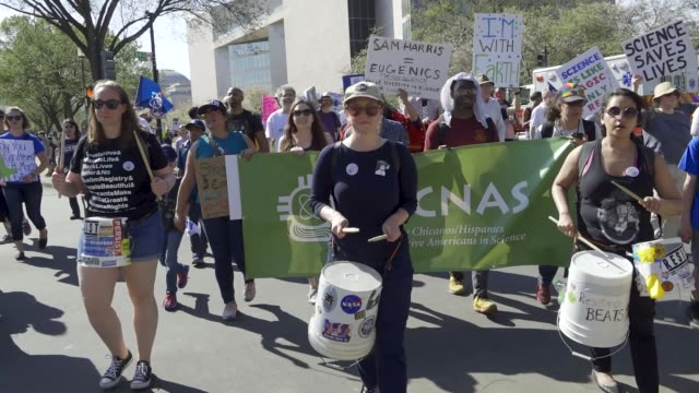 the 2nd annual march for science national mall in washington dc advocating for evidencebased policy decisions from elected officials people chanted... - earth day stock videos & royalty-free footage