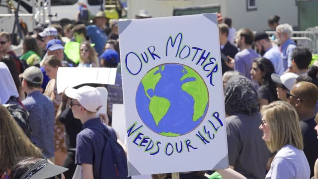 the 2nd annual march for science national mall in washington dc advocating for evidencebased policy decisions from elected officials people chanted... - marciare video stock e b–roll