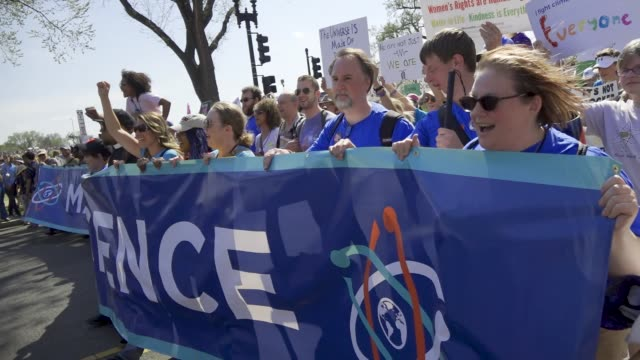 the 2nd annual march for science national mall in washington dc advocating for evidencebased policy decisions from elected officials people chanted... - marching stock videos & royalty-free footage