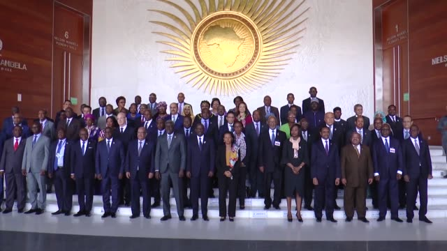 the 32nd summit of african heads of state and government is held in addis ababa ethiopia on february 10 2019 - president of egypt stock videos & royalty-free footage