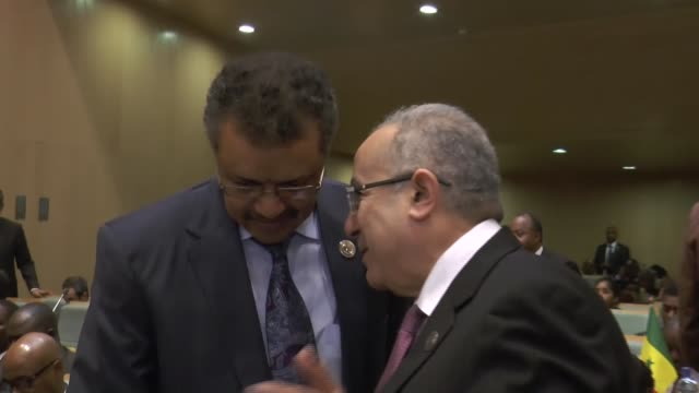 vídeos de stock e filmes b-roll de the 32nd summit of the new partnership for africa's development heads of state and government has started at african union conference center in addis... - corno de áfrica