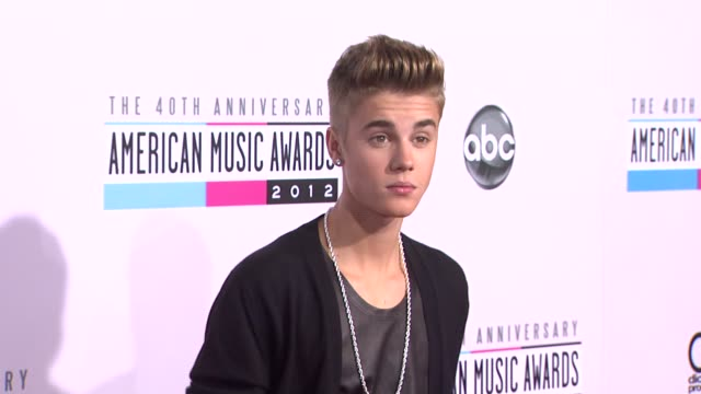 the 40th american music awards arrivals los angeles ca united states 11/18/12 - justin bieber stock videos & royalty-free footage