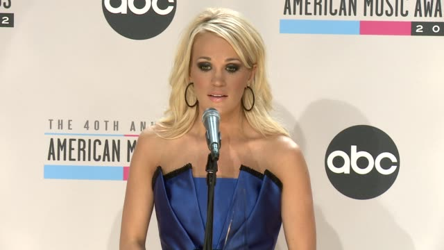 the 40th american music awards - press room, los angeles, ca, united states, 11/18/12 - ジェニー・マッカーシー点の映像素材/bロール