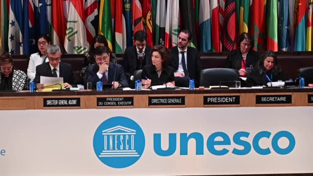 vidéos et rushes de the 40th session of the united nations educational, scientific and cultural organization is held at the unesco headquarters in paris, france on... - unesco