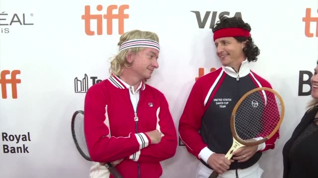 the 42nd toronto international film festival opens with a look back at the storied rivalry between tennis stars john mcenroe and bjorn borg - epic film stock videos & royalty-free footage