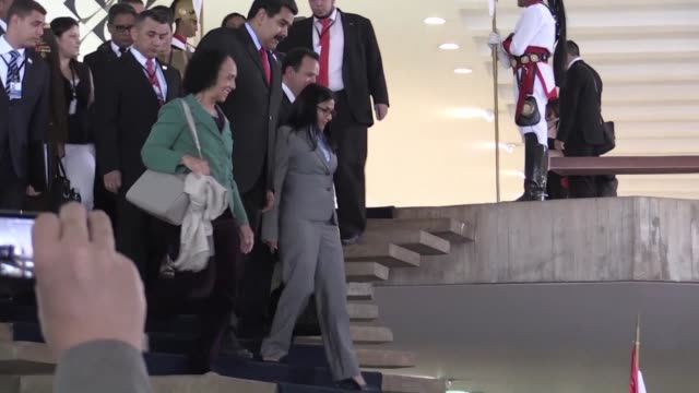 the 48th presidents summit of the mercosur regional bloc was hosted in brasilia, with a focus on internal trade and international insertion - mercosur stock videos & royalty-free footage