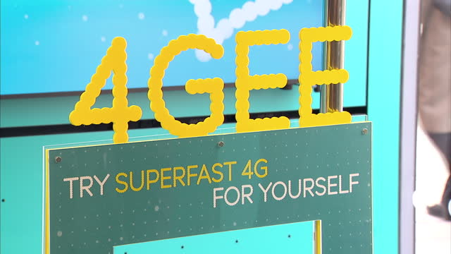 the 4g network has launched offering customers in 11 uk cities superfast internet connections on their mobile phone network ee which owns orange and... - 3g stock videos & royalty-free footage