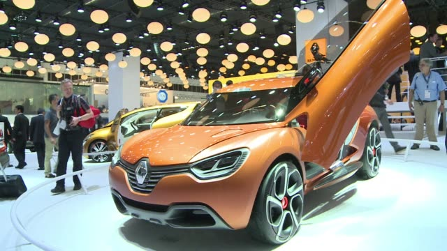 the 65th edition of the iaa auto show opens to the media with global automakers above all german manufacturers expected to lift the wraps on as many... - tradeshow stock videos & royalty-free footage