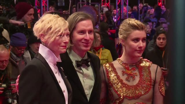 stockvideo's en b-roll-footage met the 68th berlinale film festival opens with the premiere of wes anderson's animated feature isle of dogs - internationaal filmfestival van berlijn
