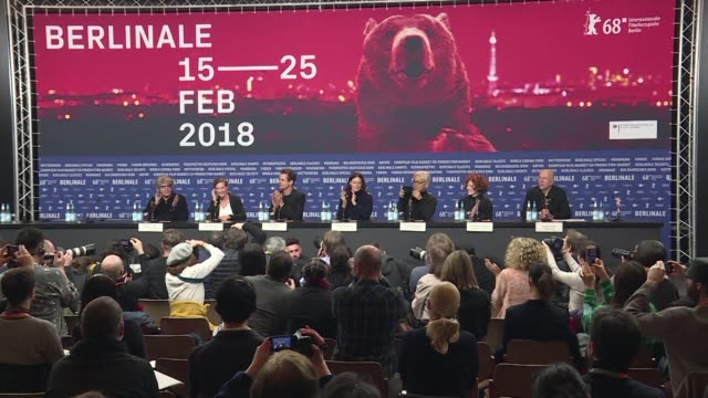 stockvideo's en b-roll-footage met the 68th edition of the berlin film festival kicks off today with the press conference of the jury including its president the german director of... - internationaal filmfestival van berlijn