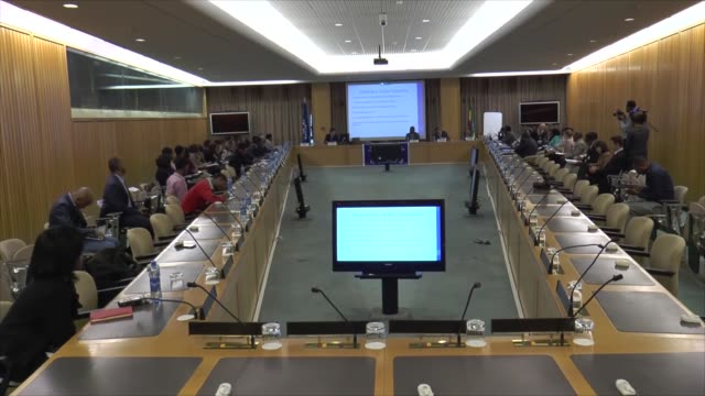the 6th meeting of the regional committee on mixed migration for the horn of africa and yemen is held at the united nations economic commission for... - horn of africa stock videos & royalty-free footage