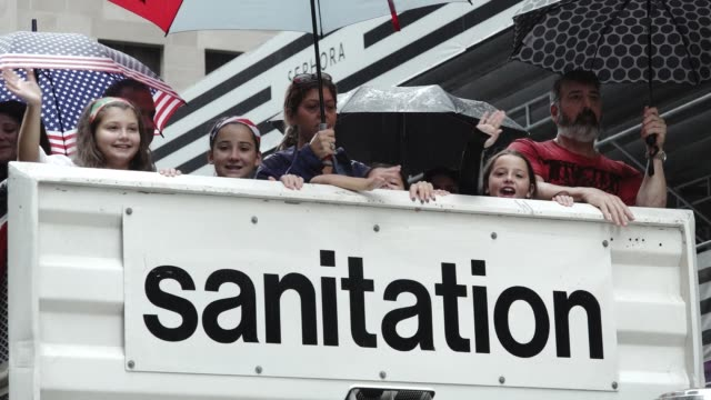 The 73rd Annual Columbus Day Parade in New York City via 5th Avenue in Manhattan