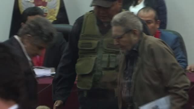 the 86-year-old leader of the peruvian maoist guerrilla group shining path, abimael guzman, has been transferred from a maximum security prison to a... - maoism stock videos & royalty-free footage