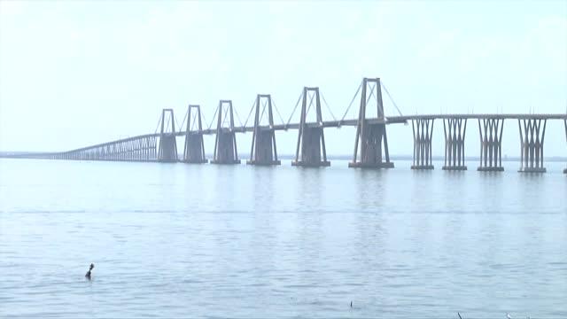 the 8.7 kilometre long general rafael urdaneta bridge that spans the bay of maracaibo venezuela and was completed in 1962 presents the same... - kilometre stock videos & royalty-free footage