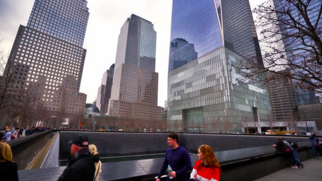 the 9/11 memorial. terrible historical event. new yorkers in grief. new york, us - september 11 2001 attacks stock videos & royalty-free footage