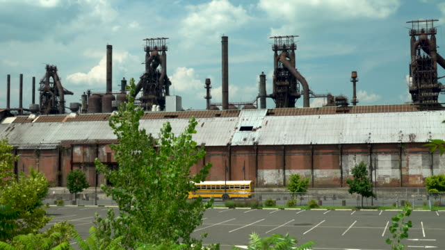 the abandoned bethlehem steel plant - bethlehem pennsylvania stock videos & royalty-free footage