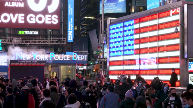 the abc - broadcasting company broadcasting live in midtown manhattan's times square the us presidential elections between incumbent republican... - former stock videos & royalty-free footage
