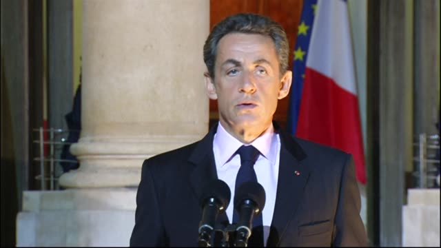 the accord struck at an eu summit last week is the sole possible way to resolve greece's debt problems says french president nicolas sarkozy paris... - last stock videos & royalty-free footage