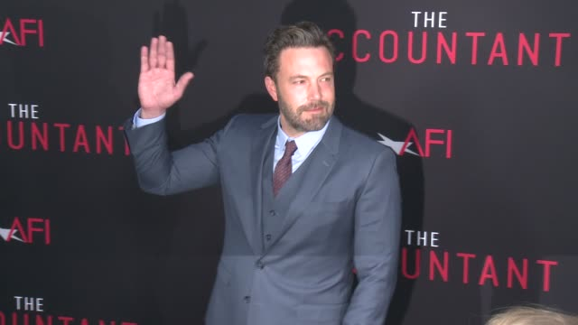 clean the accountant premiere in los angeles ca - ben affleck stock videos & royalty-free footage
