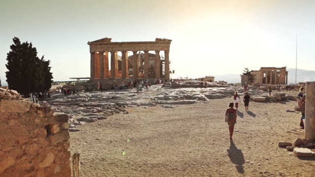 the acropolis in athens - parthenon athens stock videos and b-roll footage