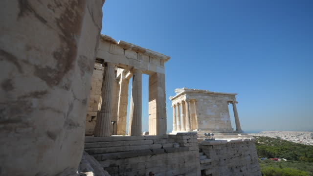 the acropolis of athens. - parthenon athens stock videos and b-roll footage