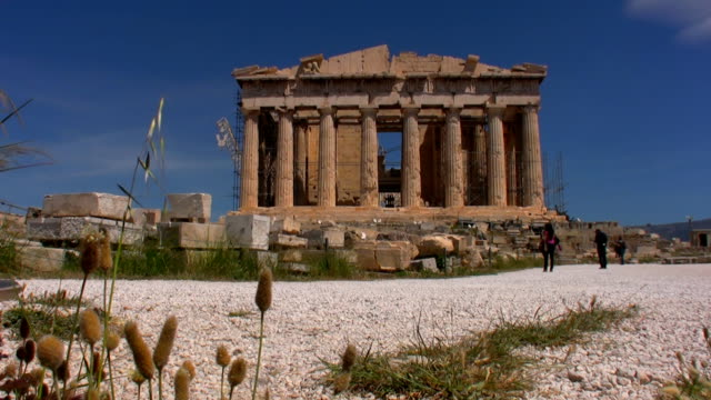 the acropolis - parthenon athens stock videos and b-roll footage