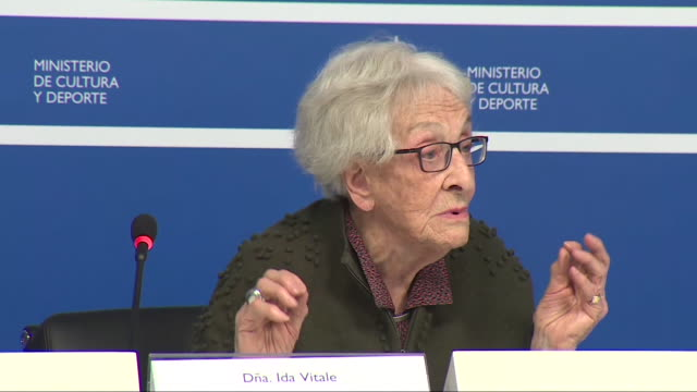 the acting minister of culture, josé guirao, has announced that the catalan poet joan margarit has been awarded the cervantes prize 2019, the most... - literature stock videos & royalty-free footage