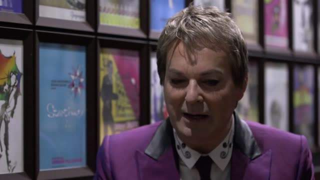 the actor and comedian julian clary is inducted into the wall of fame at the london palladium, presented by andrew lloyd webber and his wife... - julian clary stock videos & royalty-free footage