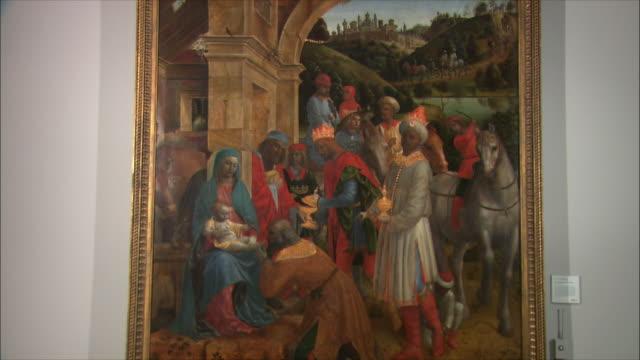 vídeos y material grabado en eventos de stock de ms the adoration of the kings by vincenzo foppa, oil on poplar, circa 1500 / the national gallery, london, united kingdom - reyes magos