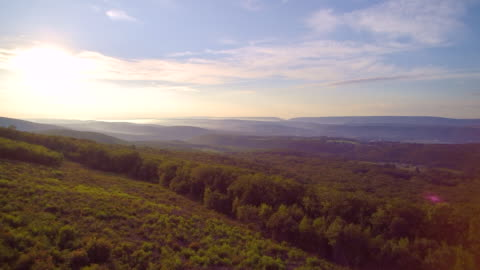 the aerial drone view of the jim thorpe (mauch chunk) and lehigh river in carbon county, poconos region, pennsylvania, usa - appalachia stock videos & royalty-free footage