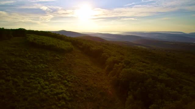 Vyn antenn drönare över Jim Thorpe (Mauch Chunk) och Lehigh floden i Carbon County, Poconos regionen, Pennsylvania, USA