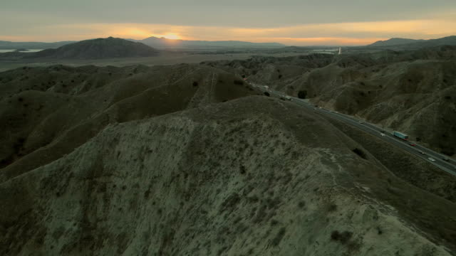 the aerial panoramic view of the moreno valley at the sunset - valley stock videos & royalty-free footage