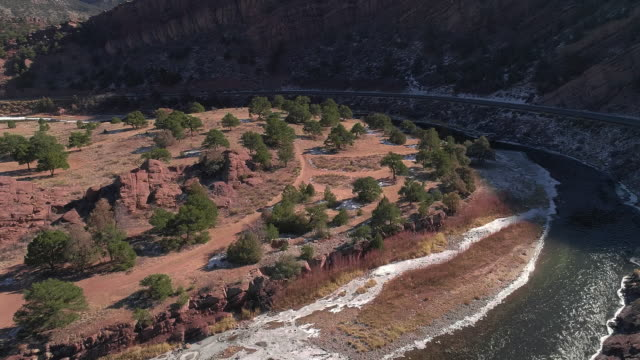 the aerial scenic view of the arkansas river, colorado, usa - eroded stock videos & royalty-free footage