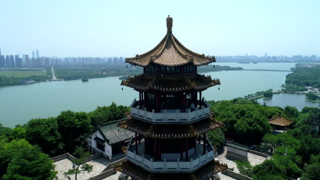 the aerial view of luding mountain wuxijiangsu provincechina - wuxi stock videos and b-roll footage