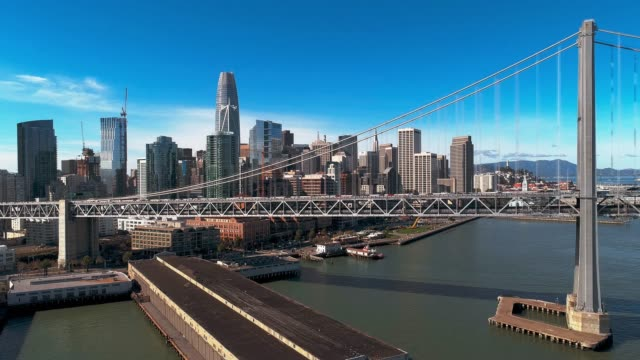 the aerial view of san francisco, california - san francisco bay stock videos & royalty-free footage