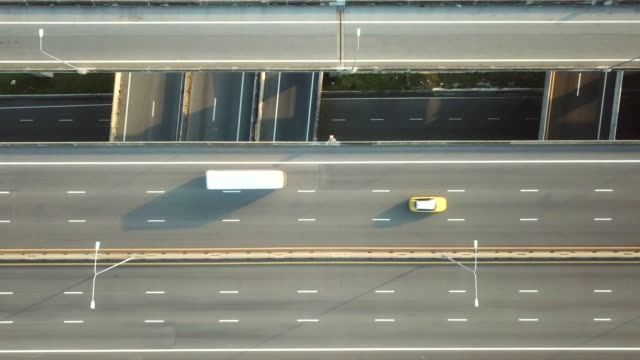 the aerial view of the highway - next to stock videos and b-roll footage