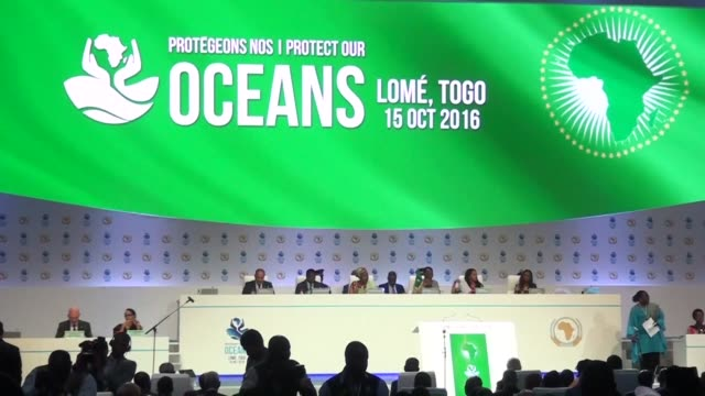The African Union adopts a charter on piracy illegal fishing and maritime security at a summit meeting in Togo