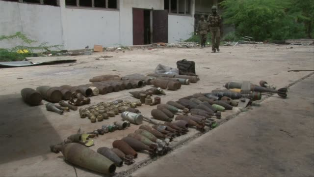 The African Union force in Somalia finds a large weapons cache left behind by Islamist Shebab rebels who pulled out of the capital Mogadishu...