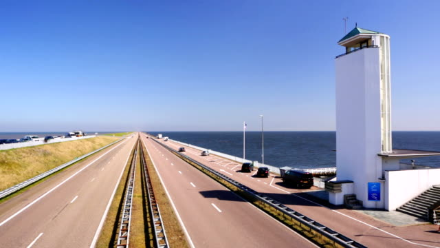 the 'afsluitdijk' dike damming off the former zuiderzee, the netherlands - levee stock videos & royalty-free footage