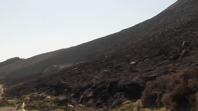 the aftermath of fires in the mourne mountains, northern ireland - burnt stock videos & royalty-free footage