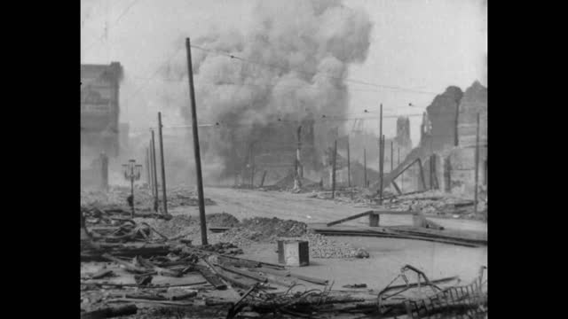 the aftermath of the 1906 san francisco earthquake filmed by the miles brothers soon after the earthquake that devastated san francisco on april 18th... - 1906 stock-videos und b-roll-filmmaterial